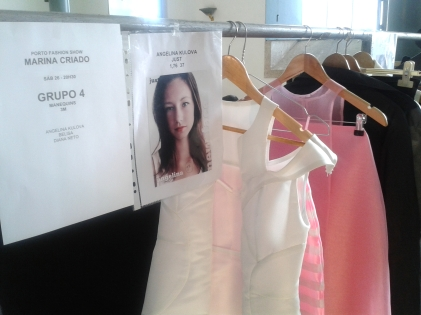 Marina Criado backstage Porto Fashion Show