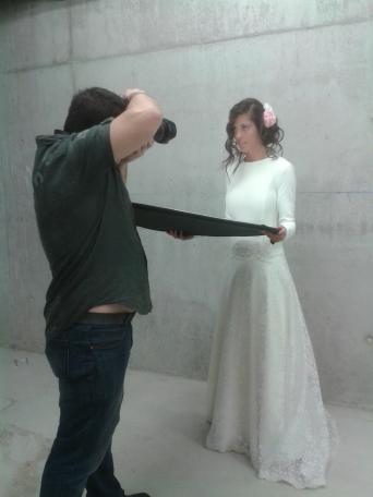 Durante la sesión de fotos